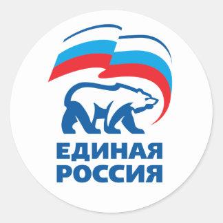 La Russie unie Sticker Rond