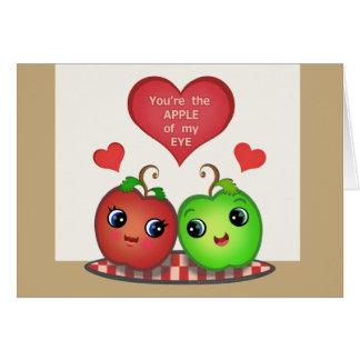 La Saint-Valentin drôle Apple aiment la carte de