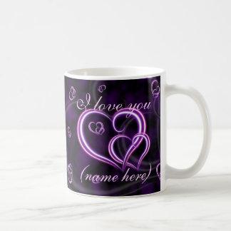 La Saint-Valentin personnalisent les coeurs Mug Blanc