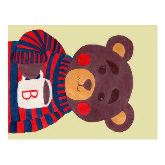 La saison d'hiver vient (l'ours) carte postale