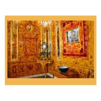 La salle ambre, palais de Catherine, Russie Cartes Postales