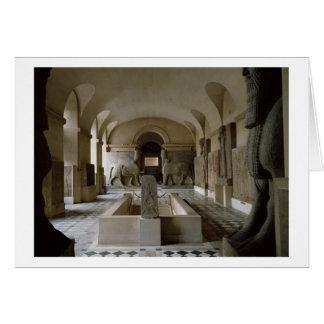 La salle assyrienne au Louvre à Paris (photo) Carte De Vœux