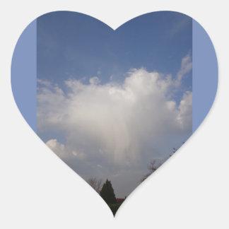 La salutation de l'ange pendant le matin sticker cœur