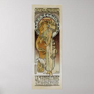 La Samaritaine de ~ d'Alphonse Mucha Poster