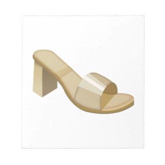 La sandale de la femme - Emoji Bloc-note