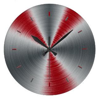 La sangria accentue une couleur grande horloge ronde