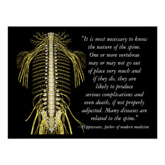 La santé de chiropractie cite Hippocrate Posters