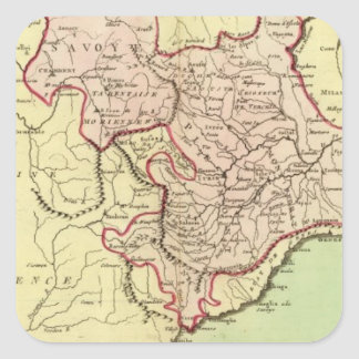 La Sardaigne, France, Italie Sticker Carré