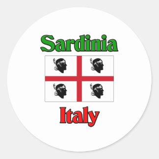 La Sardaigne Italie Adhésif Rond