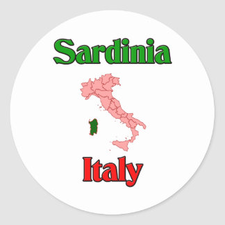 La Sardaigne Italie Autocollants Ronds