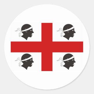 La Sardaigne, Italie Sticker Rond