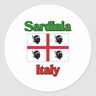La Sardaigne Italie Sticker Rond