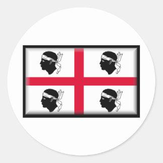 La Sardaigne-Italie Sticker Rond