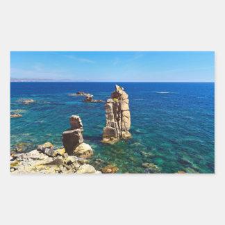La Sardaigne - le Le Colonne, Carloforte Sticker En Rectangle