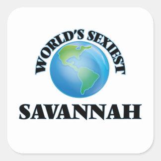 La savane la plus sexy du monde sticker carré