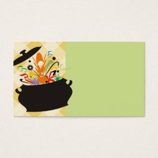 la saveur de pot de cuisine a éclaté les affaires cartes de visite