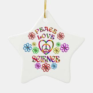 La Science d'amour de paix Ornement Étoile En Céramique