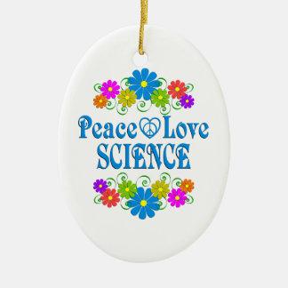 La Science d'amour de paix Ornement Ovale En Céramique