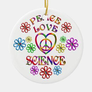 La Science d'amour de paix Ornement Rond En Céramique