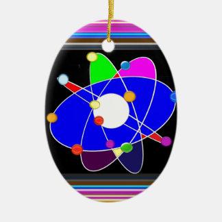 La science d'ATOME explorent l'ÉCOLE des Ornement Ovale En Céramique