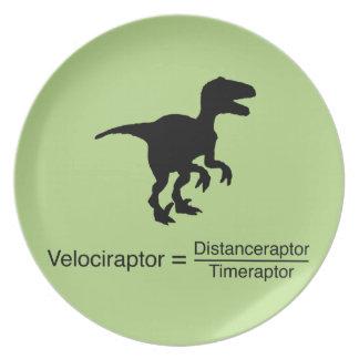 la science drôle de velociraptor assiettes en mélamine