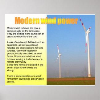 La Science, énergie éolienne moderne Posters