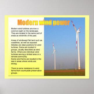 La Science, énergie, l'électricité, énergie éolien Affiche