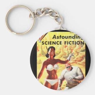 La Science Fiction_ art stupéfiant de _Pulp en Porte-clé Rond
