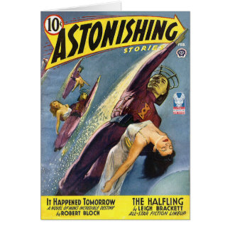 La science fiction vintage comique - le Halfling Carte De Vœux