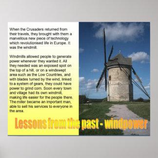 La Science, leçons du passé, Windpower Affiches
