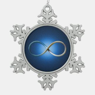 La Science ordonne des cadeaux de geek d'infini de Ornement Flocon De Neige Pewter