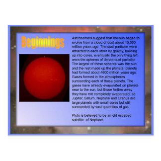 La Science, système solaire, débuts Carte Postale