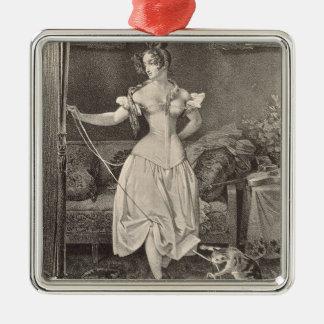 La Séjour-dentelle, gravée par Alfred Léon Ornement Carré Argenté
