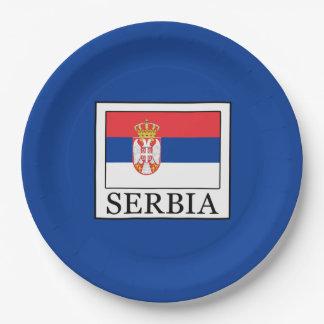 La Serbie Assiettes En Papier