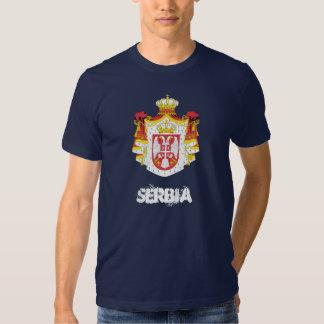La Serbie avec le manteau des bras T-shirt