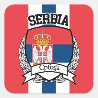 La Serbie Sticker Carré