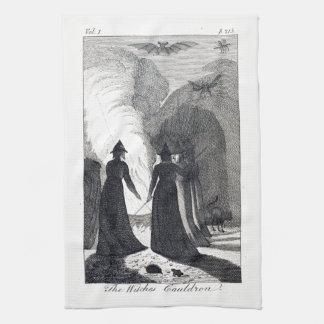La serviette de cuisine du chaudron de la sorcière