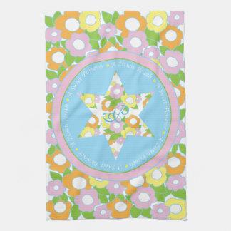 """La serviette de cuisine """"pâque fleurit des pastels"""