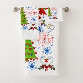 La serviette de salle de bains place Noël
