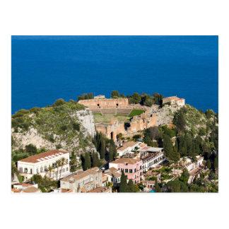 La Sicile - théâtre antique de carte postale de