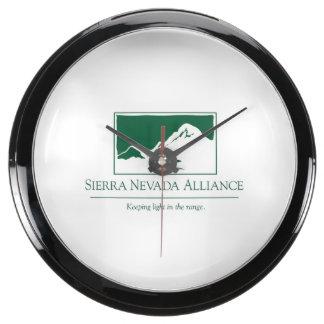La sierra Nevada Alliance synchronisent Aqua Clock