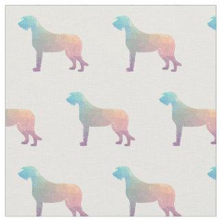La silhouette de chien-loup irlandais a couvert de tissu