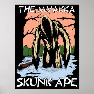 La singe de mouffette de Myakka Poster