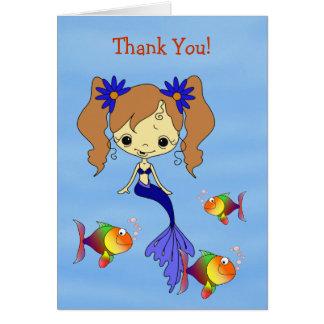 La sirène bleue badine le carte de remerciements