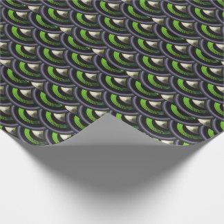 La sirène inspirée par paon mesure le papier papiers cadeaux noël