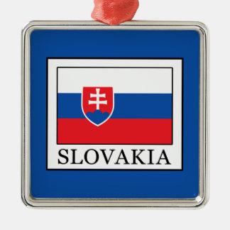La Slovaquie Ornement Carré Argenté