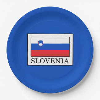 La Slovénie Assiettes En Papier