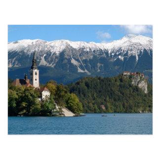 La Slovénie, saignée, lac saigné, île saignée, Carte Postale