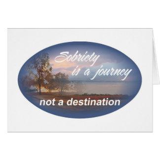 la sobriété est un voyage 10 carte de vœux