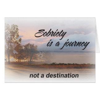 la sobriété est une carte de voyage